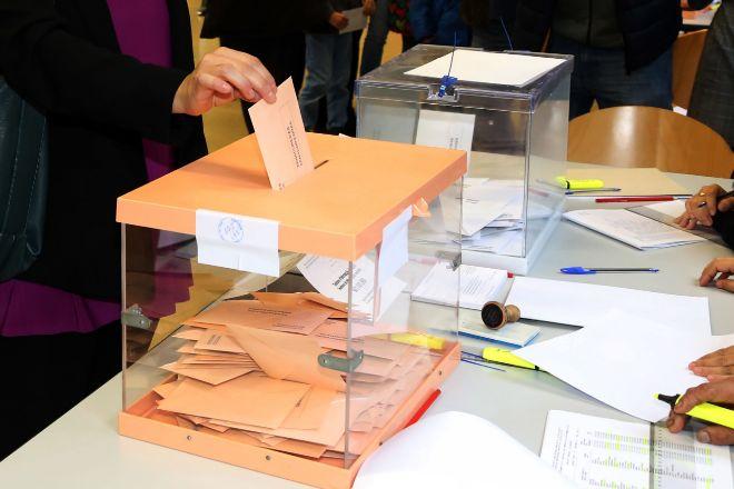 Puto de votación en Barcelona, en las últimas elecciones generales, que tuvieron lugar en otoño de 2019.