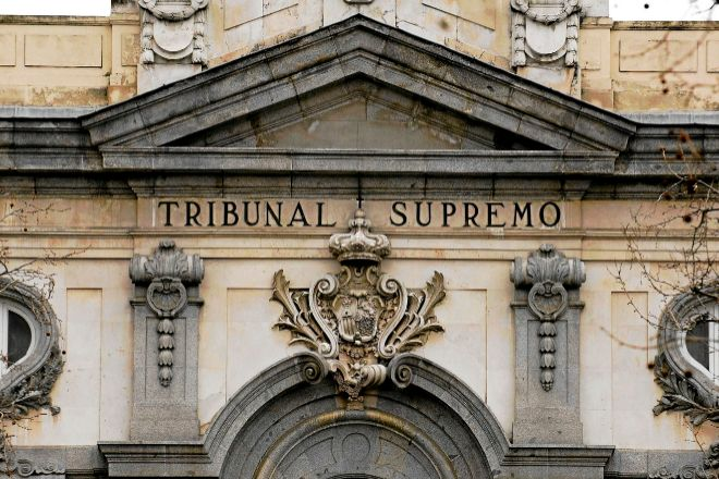 Fachada de la sede del Tribunal Supremo en Madrid.