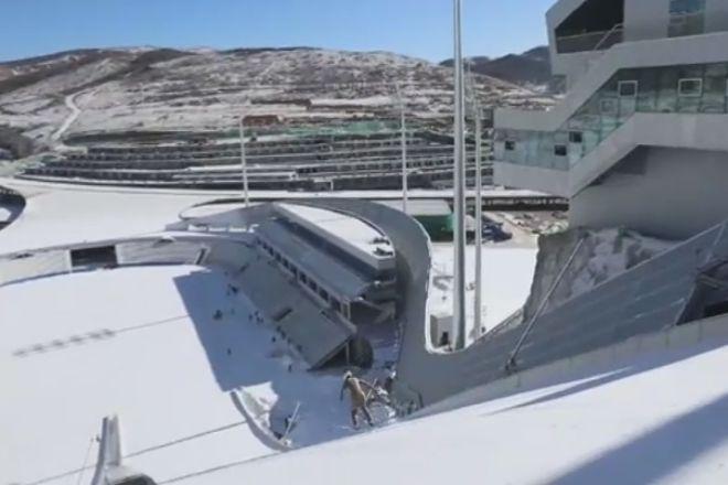 Pekín tendrá el primer estadio sobre una pista de salto de esquí