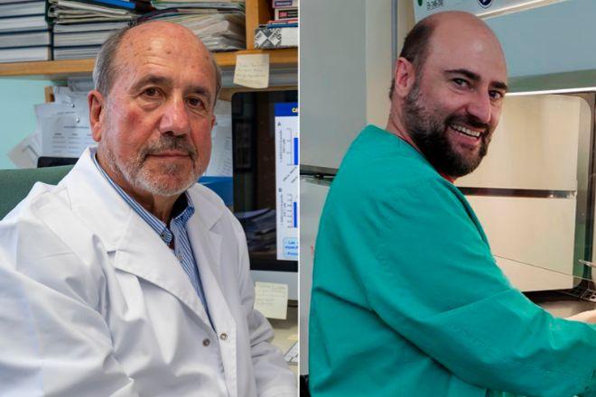 Los virólogos Mariano Esteban y Juan García Arriaza, del CNB-CSIC, coordinadores del estudio.