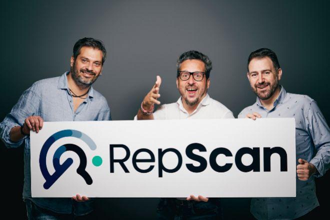 Coque Moreno, Josep Coll y Alejandro Castellano, cofundadores de RepScan.
