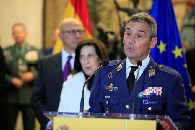 El jefe del Estado Mayor de la Defensa, general Miguel Ángel Villaroya.