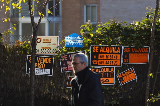 Carteles de Se Alquila en Madrid.