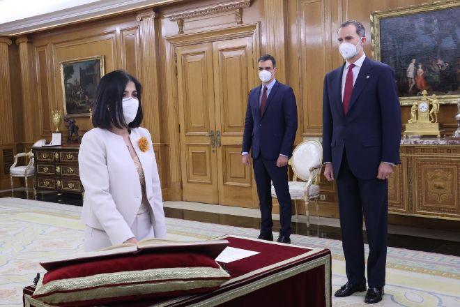 Carolina Darias, en la toma posesión como ministra de Sanidad.