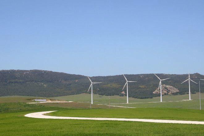 Aerogeneradores para producir energía eólica.