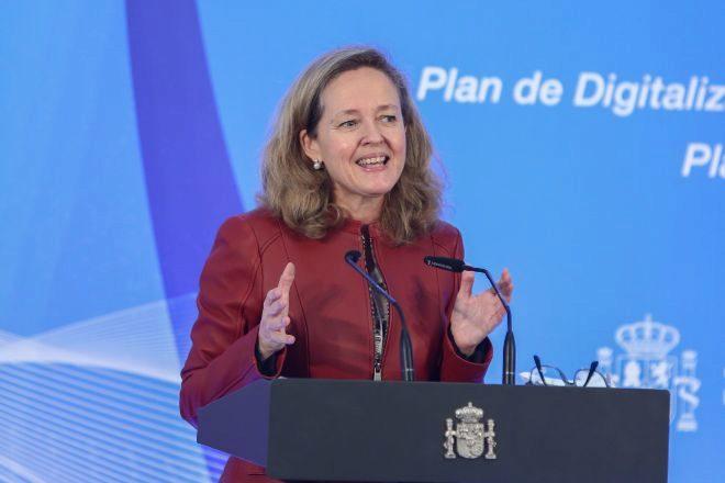 Nadia Calviño, vicepresidenta tercera y ministra de Asuntos Económicos y Transformación Digital.