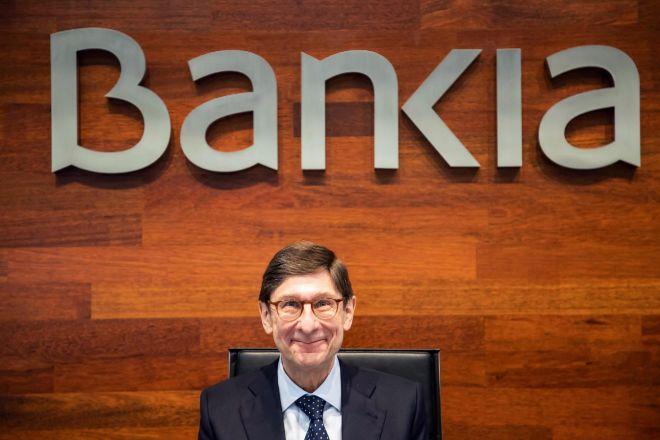 José Ignacio Goirigolzarri, en su última rueda de prensa como presidente de Bankia.