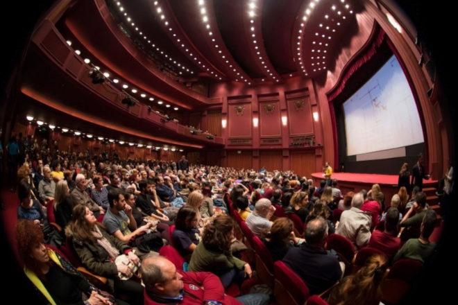Una sala de cine antes de la pandemia.