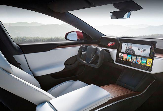 Interior del Model S.