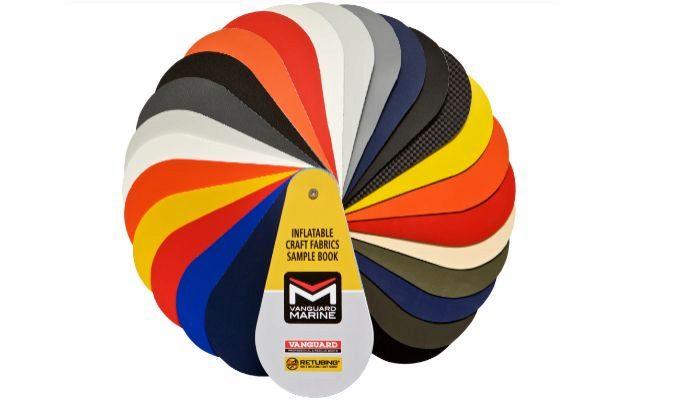 Catálogo de materiales y colores para recubrimiento exterior del flotador. | VANGUARD MARINE