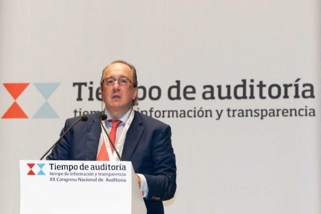 Rafael Cámara, en una imagen del Congreso de Auditoría celebrado en Vigo, en 2011.