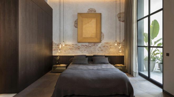 Dormitorio del loft de Casa Burés.