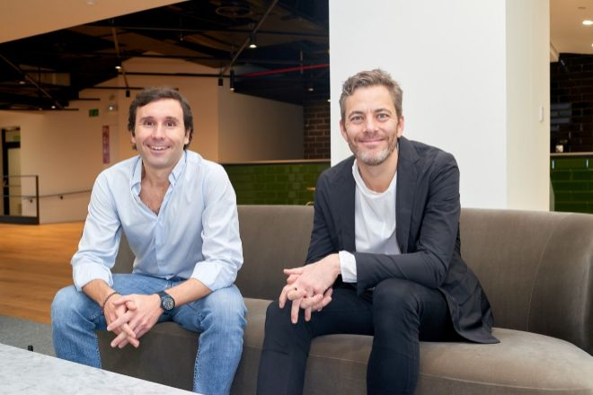 Iñigo Amoribieta, CEO de Otovo en España y Andreas Thorsheim, CEO de...