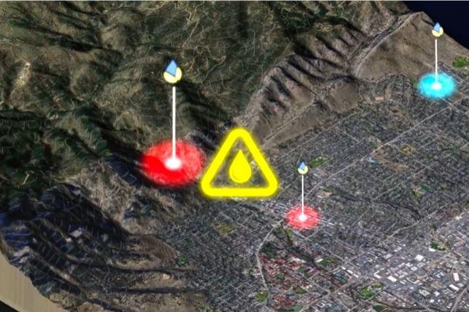 Imagen de la plataforma generando una alerta.
