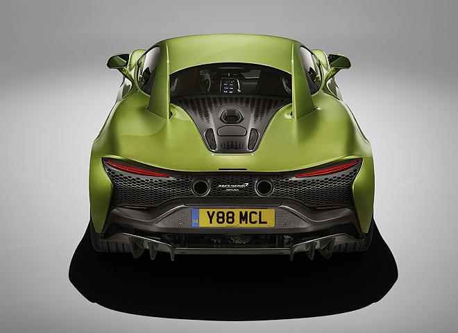 Vista posterior. En su diseño es continuista con otros modelos de McLaren.