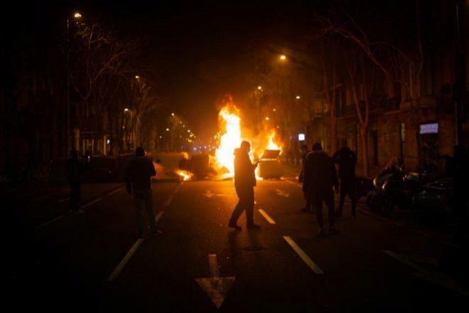 Imagen de altercados de las últimas noches en Barcelona