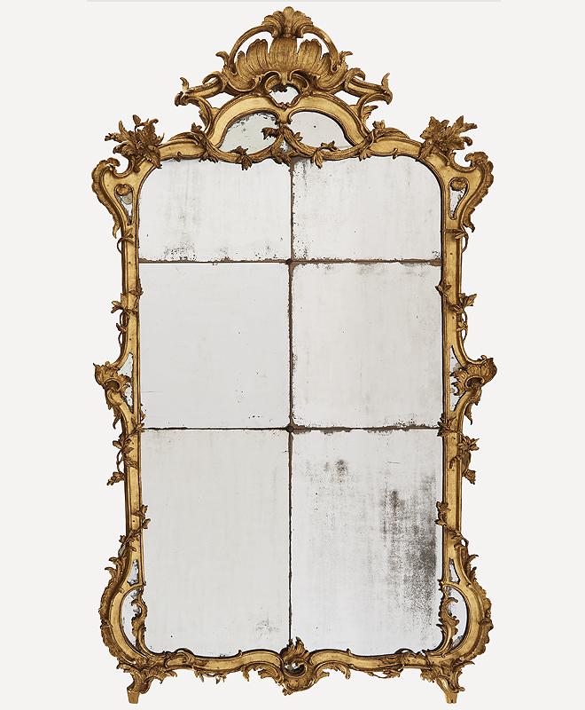 Espejo de época Luis XV. Mide 242 x 128 cm y tiene una estimación de entre 6.000 y 8.000 euros.