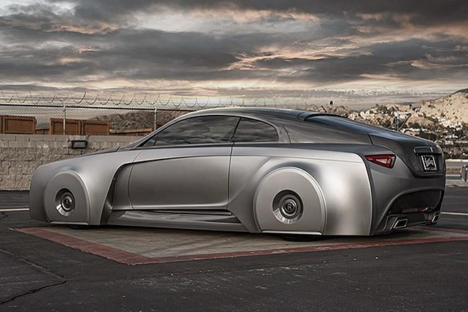 El coche parte de un Rolls-Royce Wraith, el modelo más deportivo del fabricante británico.