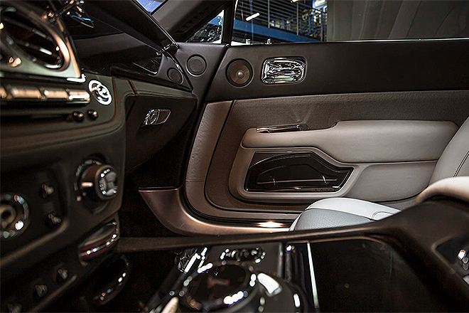 Detalles del interior del Rolls-Royce personalizado para Bieber.