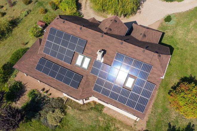 Imagen aérea de una instalación Home Solar en Polonia.