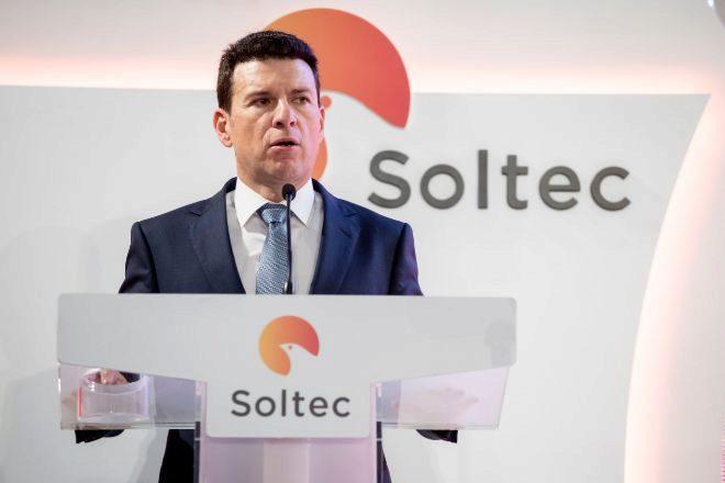 Raúl Morales, fundador de Soltec, durante la salida a Bolsa de la compañía.
