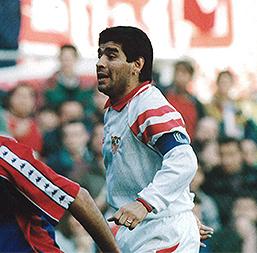 Maradona con el Sevilla