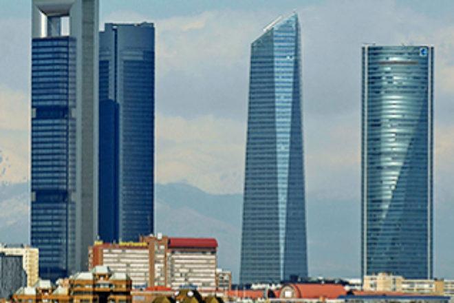 Vista panorámica de las torres de Madrid.