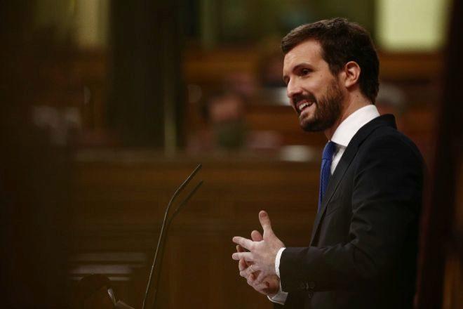 El líder del PP Pablo Casado.
