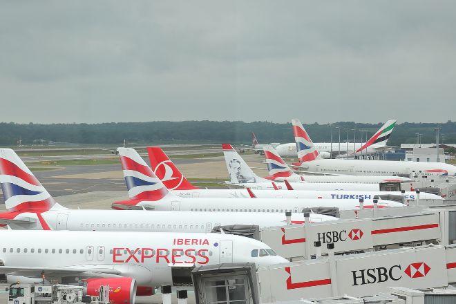 Aviones de Iberia y British Aitrways en el aeropuerto de Gatwick