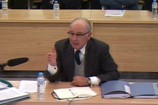 Rodrigo Rato, durante una declaración en la Audiencia Nacional.