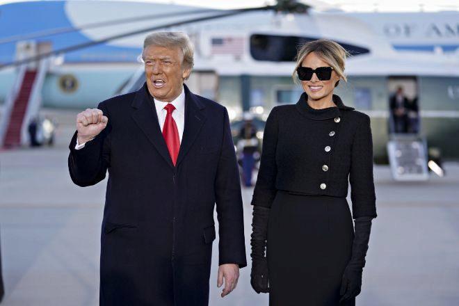 El ex presidente de los Estados Unidos,Donald Trump, y la ex primera dama, Melania Trump.