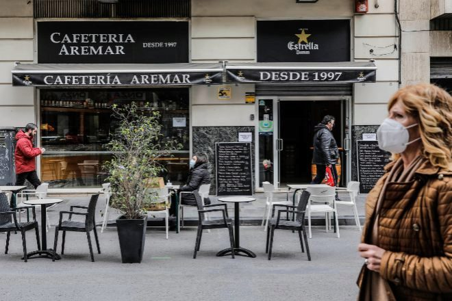 La hostelería ha estado cerrada en febrero en la Comunidad Valenciana, y en marzo han empezad a abrir las terrazas.