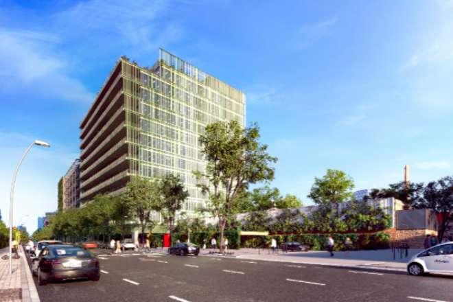 Imagen virtual del futuro edificio de oficinas.