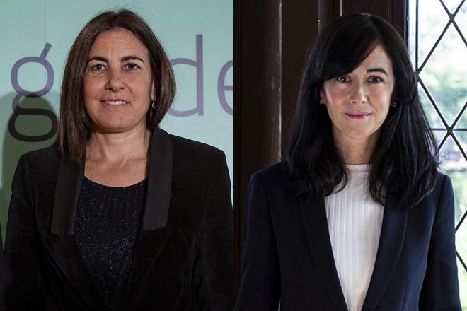 María Jesús Almazor, CEO de Ciberseguridady Cloud de Telefónica Tech, y Belén Gualda, presidenta de Navantia.