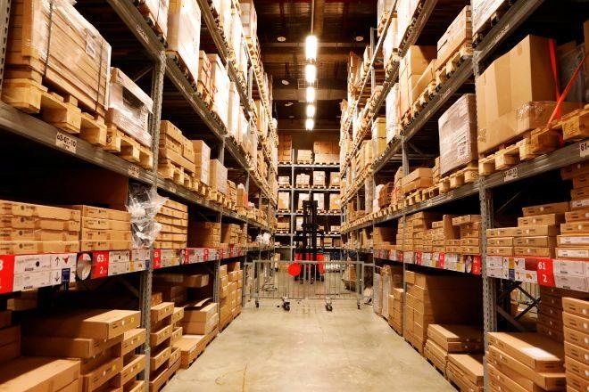 Imagen de un almacén logístico.