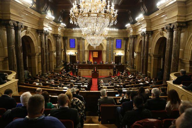 Pleno del Parlament, en una imagen de archivo.