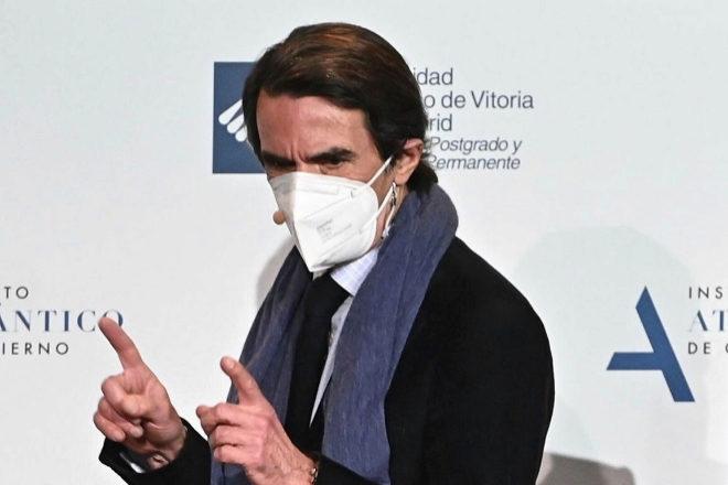 El expresidente del Gobierno José María Aznar, el pasado martes.
