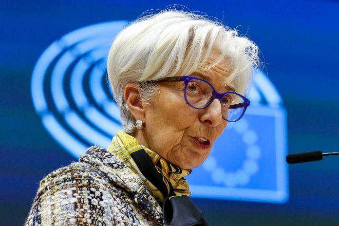 La presidenta del BCE, Christine Lagarde, el pasado 8 de febrero en el Parlamento Europeo.