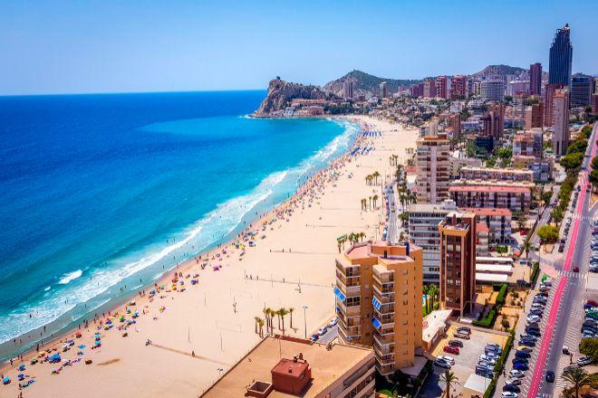 Imagen de la playa de Benidorm, en Alicante.