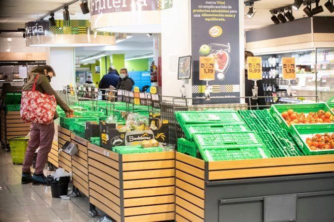 Imagen de un supermercado en Madrid.