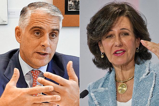 Andrea Orcel, expresidente de UBS y futuro CEO de UniCredit, y Ana Botín, presidenta de Santander.