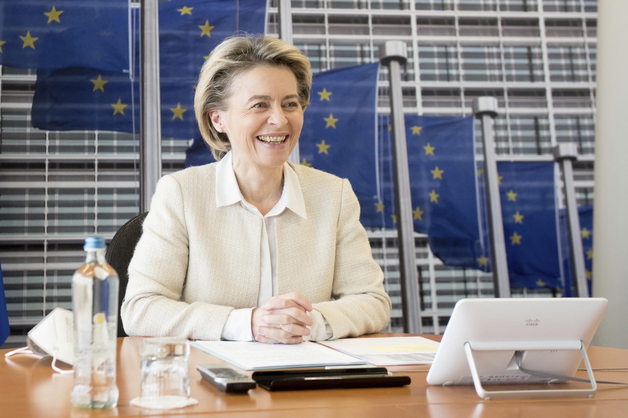 La presidenta de la Comisión Europa, Ursula von der Leyen.