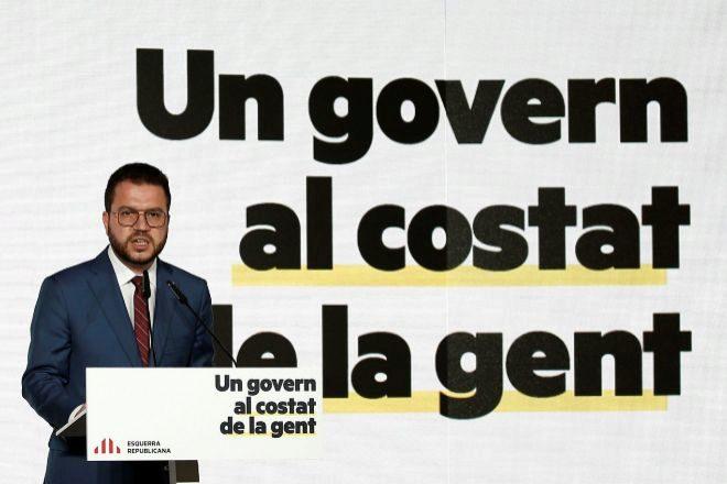 El vicepresidente en funciones del Govern y candidato de ERC a presidir la Generalitat, Pere Aragonès.
