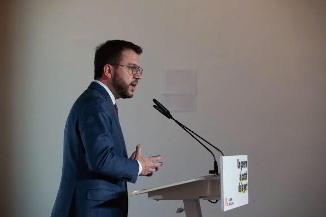 El vicepresidente en funciones de la Generalitat Pere Aragonès.
