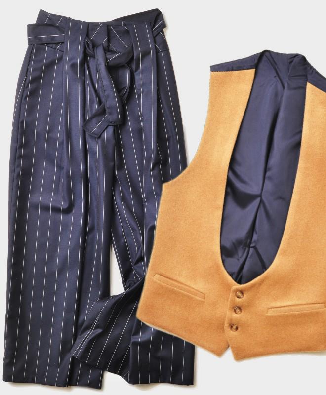 Pantalón con raya diplomática y chaleco.