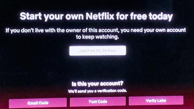 ¿Está intentando Netflix acabar con el uso de cuentas compartidas?