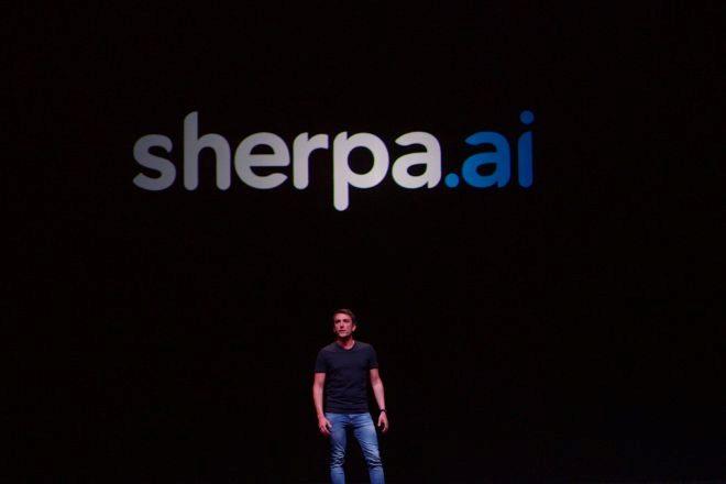 Xabi Uribe-Etxebarria, fundador y CEO de Sherpa.ai, en Sherpa Keynote...