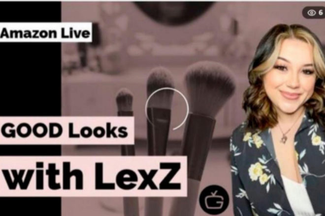 La 'influencer' LexZ realiza directos en Amazon sobre maquillaje y habla de productos que se pueden comprar directamente.