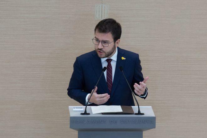 El vicepresidente de la Generalitat en funciones y candidato de ERC a la Presidencia Pere Aragonès.