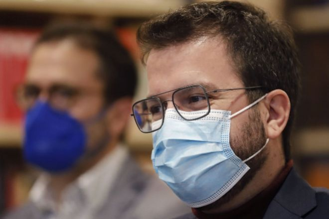 El candidato de ERC a la presidencia de la Generalitat Pere Aragonès.